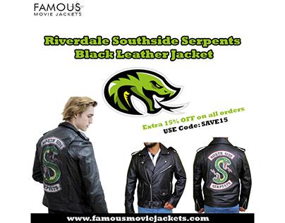 Riverdale Southside Serpents Black Leather Jacket