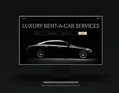 Web Design: Luxury Rent-A-Car Website