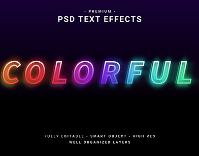 Colorful Editable PSD Text Effect.
