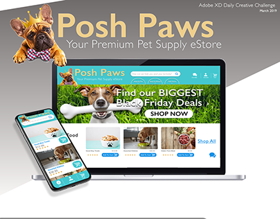 Posh Paws - Adobe XD Daily Creative Challenge