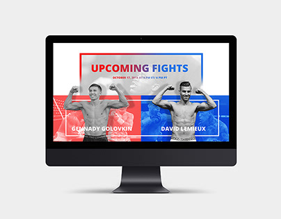 HBO Boxing - website redesign concept