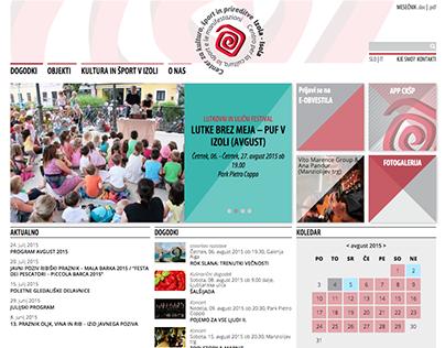 Center za kulturo, šport in prireditve Izola website