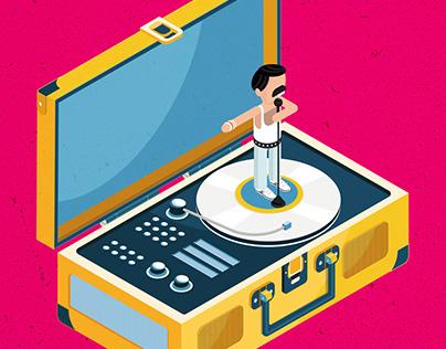 Freddie's Vinyl Record Player