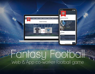 Fantasy Football Game - Web & App UI Design