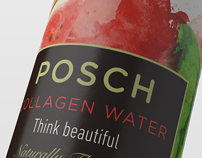 Packaging POSCH collagen water, Watermelon