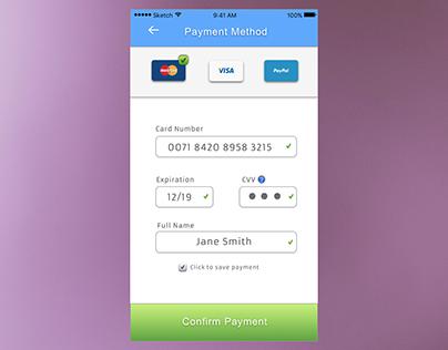 Credit Card Payment Design (iOS)