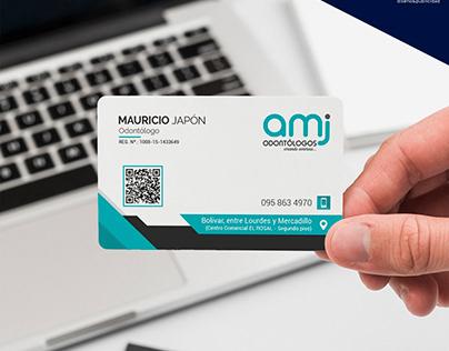 Diseño de Tarjetas y Marca AMJ