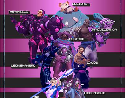 Overwatch and Valorant Tournament Graphics