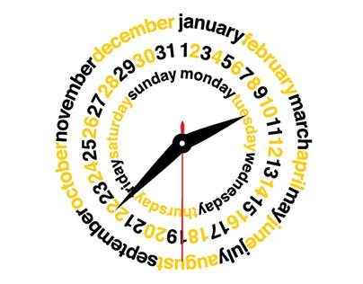 2015 Calendar Clock