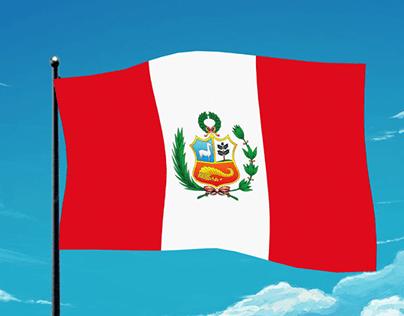 Bandera Peruana Animación
