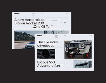 Brabus — website redesign