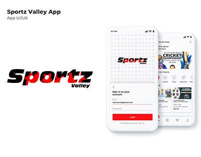 Sportz Valley App - UI/UX Design