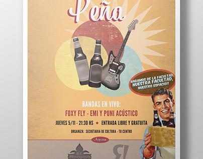 Poster for college party / Afiche fiesta universitaria