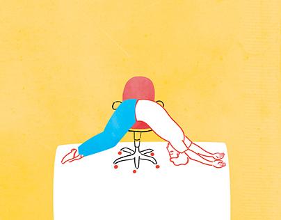 How to sleep at work