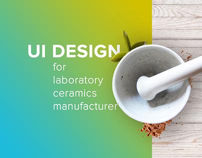 Ui design for laboratory ceramics manufacturer