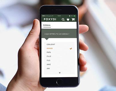 UX/UI DESIGN FOXYDI