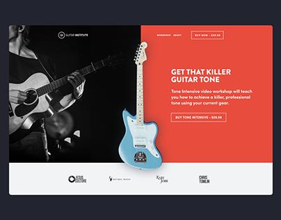 "Guitar Institute ""Tone Intensive"" Landing Page"