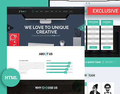 Klasik – HTML5 Corporate Template Free Download