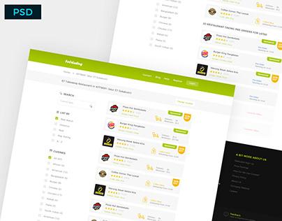Freebie: Foodading Website Design