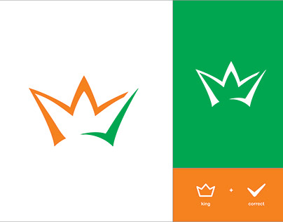 King + Correct logo design