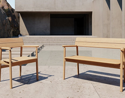 Tanso Bench by David Irwin for Case Furniture