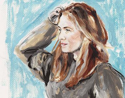 A C R Y L I C / Portrait of Lisa Scharff