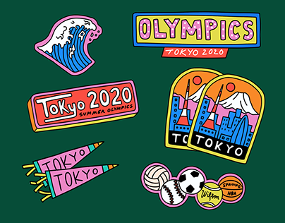 Tokyo Olympics Stickers