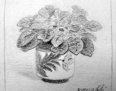 "Sketch of still life ""Viola"""