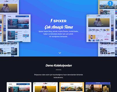 Spixer Wordpress Teması