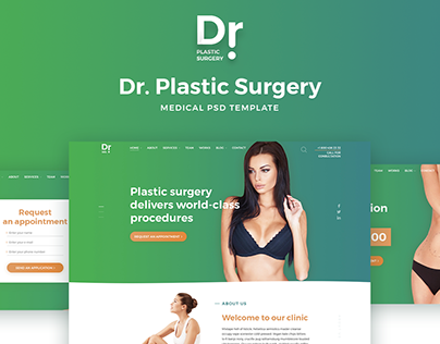 Dr. Plastic Surgery - PSD Template