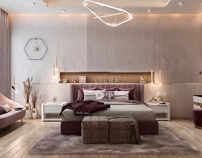 Girl bedroom design in Kuwait City