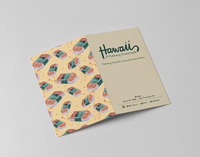 Hawaii: A Culinary Crossroads Menu and Social Fliers