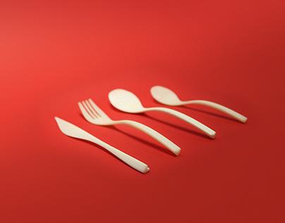 Heart cutlery set | Food Design