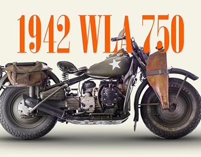 Motorcycle Harley-Davidson 1942 WLA design page