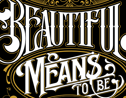 TO BE BEAUTIFUL MEANS TO BE YOURSELF - LETTERING QUOTE