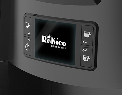 Keyboard + UX-UI of a capsule coffee machine