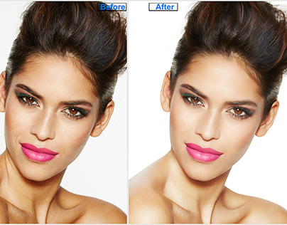 photo editing with retouching