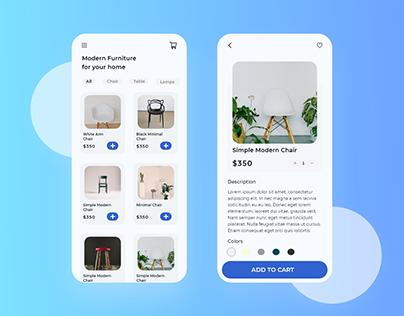 Furniture Shopping App - UI Design