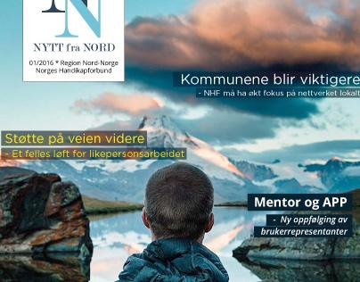 """Magazine design """"Nytt fra Nord"""""""