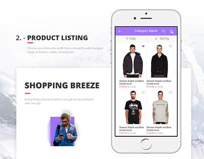 2016 Best Mobile UI eCommerce App
