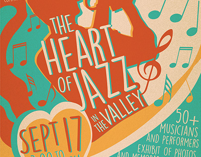 The Heart of Jazz Poster Design