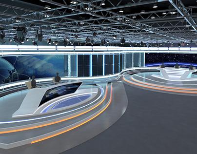 Virtual TV Studio News Set 35