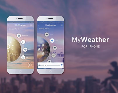 Shot design of the application for weather control