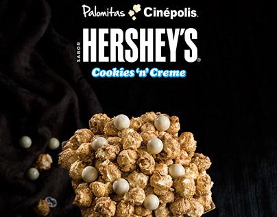 Palomitas Hershey's Cookies 'n' Creme by Cinépolis