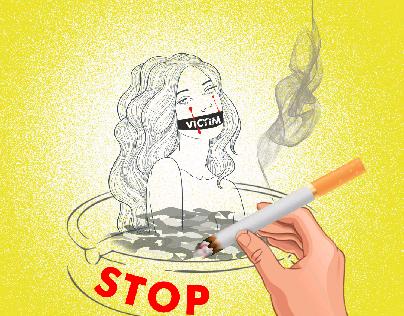 Stop victim against women