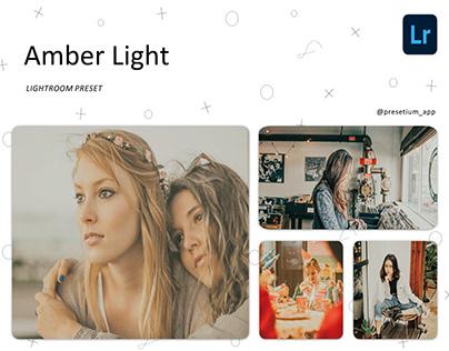 Free Lightroom Preset Every Day - Amber Light