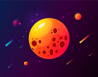 Space illustrations by lessons