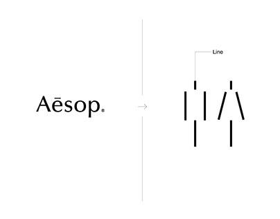 Aesop Pictogram Design