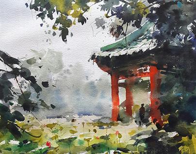 watercolor plein air