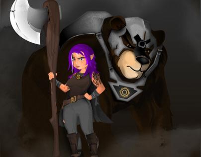 Bina and BigWig (D&D) Character